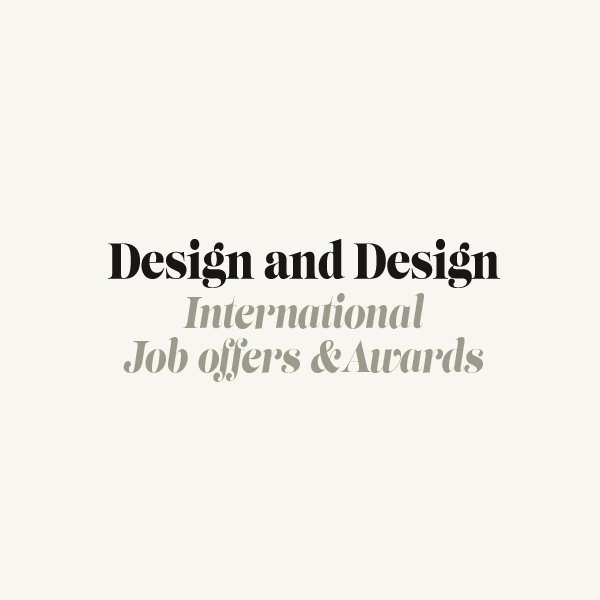 Design And Design International Job Offers And Awards By Agence Marc Praquin